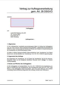 Auftragsverarbeitungs-Vertrag AVV